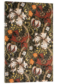 Acrylic print  Golden Lily - William Morris