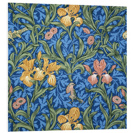 Foam board print  Iris - William Morris