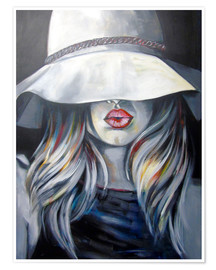 Premium poster Woman with hat