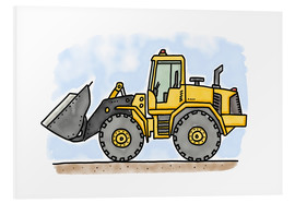 Foam board print  Hugos wheel loader - Hugos Illustrations