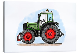 Canvas print  Hugos tractor - Hugos Illustrations