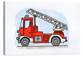 Canvas print  Firetruck - Hugos Illustrations
