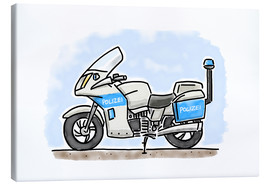 Canvas print  Hugos police motorcycle - Hugos Illustrations
