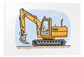 Foam board print  Hugos digger - Hugos Illustrations