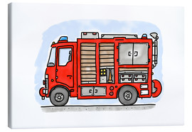 Canvas print  Hugos fire department emergency vehicle - Hugos Illustrations