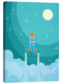 Canvas print  Rocket launch into space - Durro Art