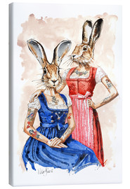 Canvas print  Cute Lady-Bunnys - Peter Guest