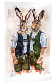 Acrylic print  Gay Rabbits - Peter Guest