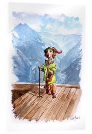 Acrylic print  Dachshund in the Alps - Peter Guest
