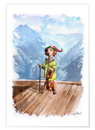 Premium poster  Dachshund in the Alps - Peter Guest