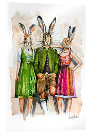 Acrylic print  Dude Rabbit & Bunnies - Peter Guest