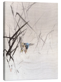 Canvas print  Bird catches fish - Watanabe Seitei