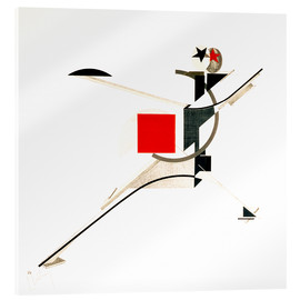 Acrylic print  The new man - El Lissitzky