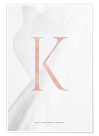 Premium poster ROSEGOLD LETTER COLLECTION K