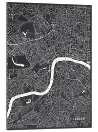 Acrylic print  London England Map - Main Street Maps