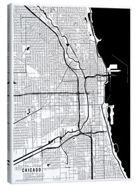 Canvas print  Chicago USA Map - Main Street Maps
