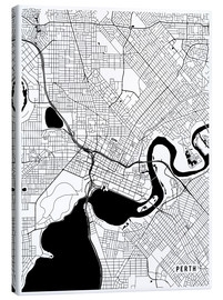 Canvas print  Perth Australia Map - Main Street Maps