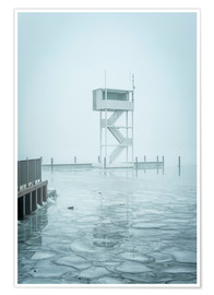 Premium poster  The frozen Mueggelsee - Westend61