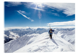 Acrylic print  Skier looking for ideal ski-run - Lumi Images