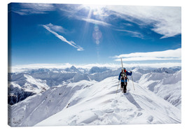 Canvas print  Skier looking for ideal ski-run - Lumi Images