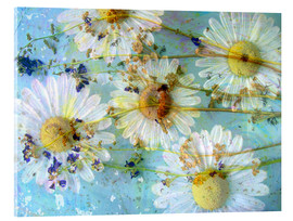 Acrylic print  Montage of morning flowers - Alaya Gadeh