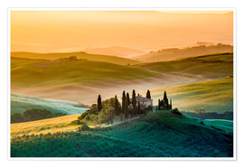 Premium poster  Val d'Orcia, Tuscany, Italy - age fotostock