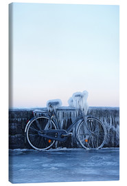 Canvas print  Frosty bike - Cultura/Seb Oliver