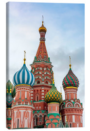 Canvas print  St. Basil's Cathedral at Red Square in Moscow - Click Alps