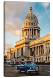 Canvas print  Vintage car in historic Havana - John & Lisa Merrill