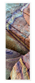 Premium poster  Abstract lines in the sandstone - Judith Zimmerman