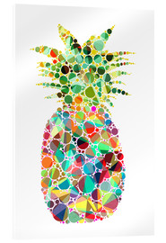 Acrylic print  Pineapple - Miss Coopers Lounge