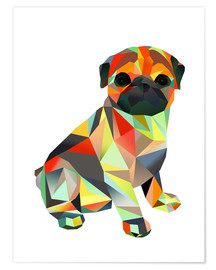 Premium poster  Molly Pug 2 - Miss Coopers Lounge