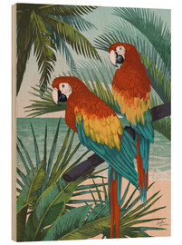 Wood print  Welcome to Paradise X - Janelle Penner