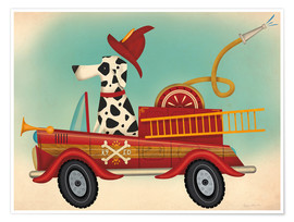 Premium poster  K9 fire department - Ryan Fowler