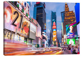 Canvas print  Passing vehicles in front of the billboards of Times Square in New York - Neale Clarke