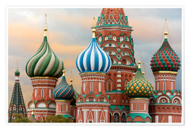Premium poster  St. Basil's Cathedral in Moscow - Miles Ertman