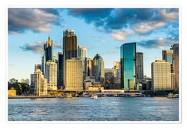 Premium poster  The skyline of Sydney at sunset - Michael Runkel