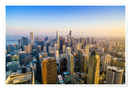 Premium poster Skyline of Chicago, Illinois
