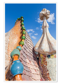 Premium poster  Dragon roof of Casa Batlló, Barcelona - Neale Clarke