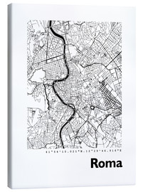 Canvas print  Map of Rome - 44spaces
