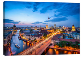 Canvas print  The skyline of Berlin at night - Jan Christopher Becke