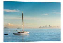Acrylic print  Sailboat in front of San Francisco, California, USA - Markus Kapferer