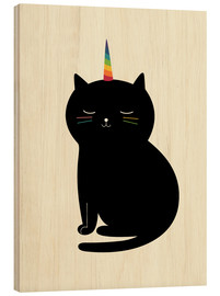 Wood print  Caticorn - Andy Westface