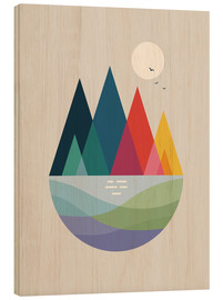 Wood print  Somewhere - Andy Westface