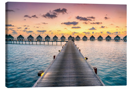 Canvas print  Romantic sunset in the Maldives - Jan Christopher Becke