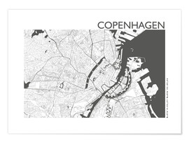 Premium poster  City map of Copenhagen - 44spaces