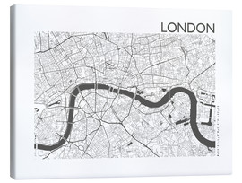 Canvas print  City map of London - 44spaces