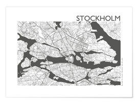 Premium poster  City map of Stockholm - 44spaces