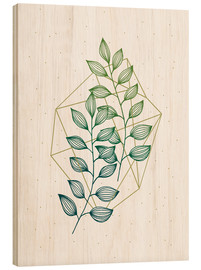 Wood print  Geometry and nature III - Barlena