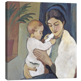 Canvas print  Mother and child - August Macke
